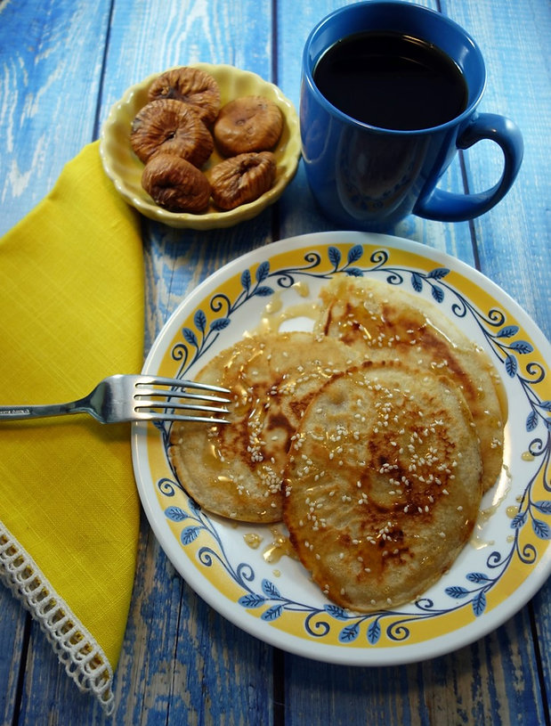 Ancient Greek Pancakes Tiganites.jpg