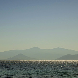 View from Agia Anna beach