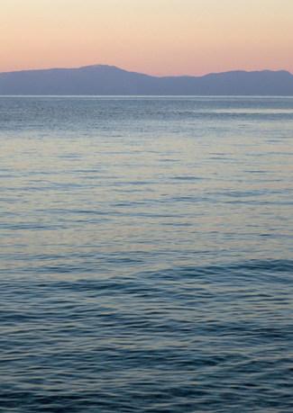 The Turkish coast from Samos