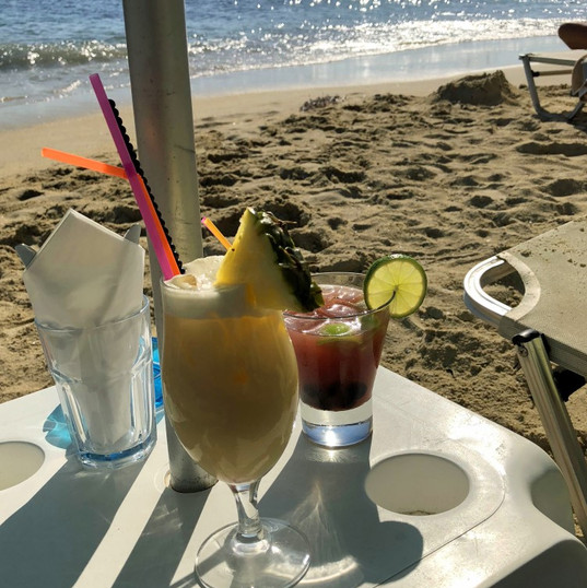 Cocktails on the beach!