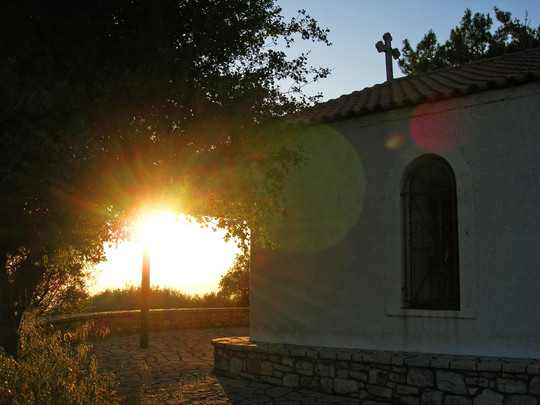 Arcadia-Greece-church-at-sunset.JPG