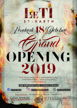 Grand opening Le TI Octobre 2019 - flyer