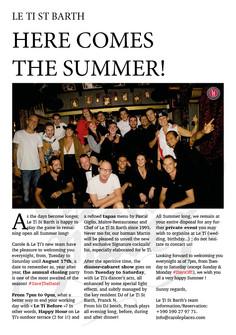 Le Ti - Newsletter de l'été