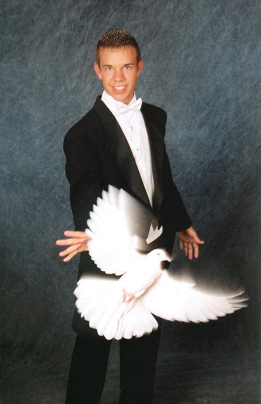 Ryan Zubrick as a young magician