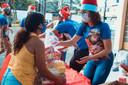 Cestas do Natal da Solidariedade são entregues para as famílias