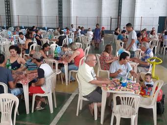 Almoço reúne comunidade para comemorar 2 anos com Pe. Jorge