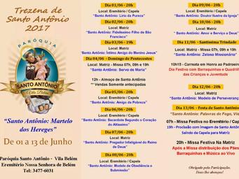 Confira a programação da Trezena e Festa de Santo Antônio