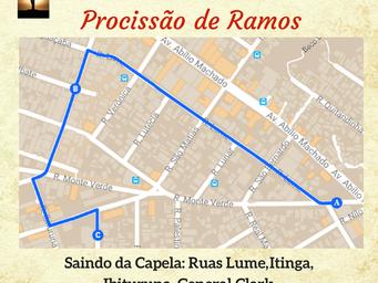 Confira o Itinerário das Procissões da Semana Santa