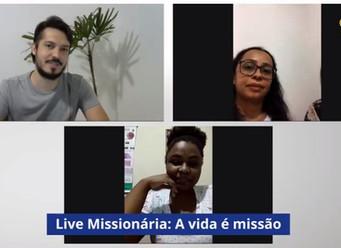 Live traz partilha de missionários da Paróquia