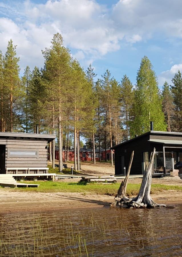 Sauna au bord du lac