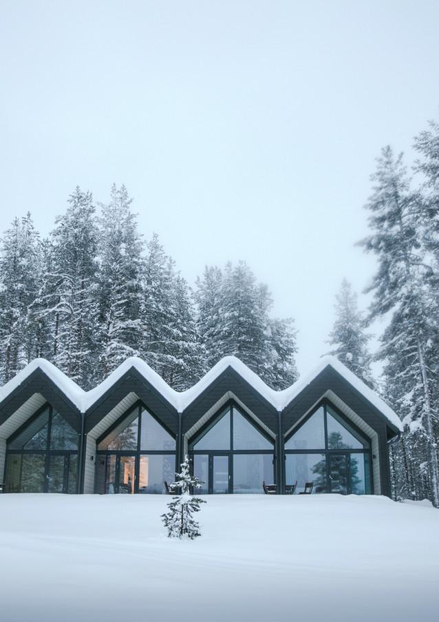 Hôtel sous la neige, Laponie