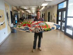 Derek Virgo Surf Board