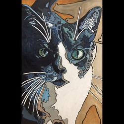 2016 Portrait Series_ Cat_ 24x36 acrylic on board