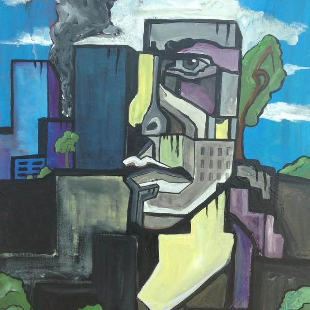 #graffiti #landscape #selfportrait #urbanart #art