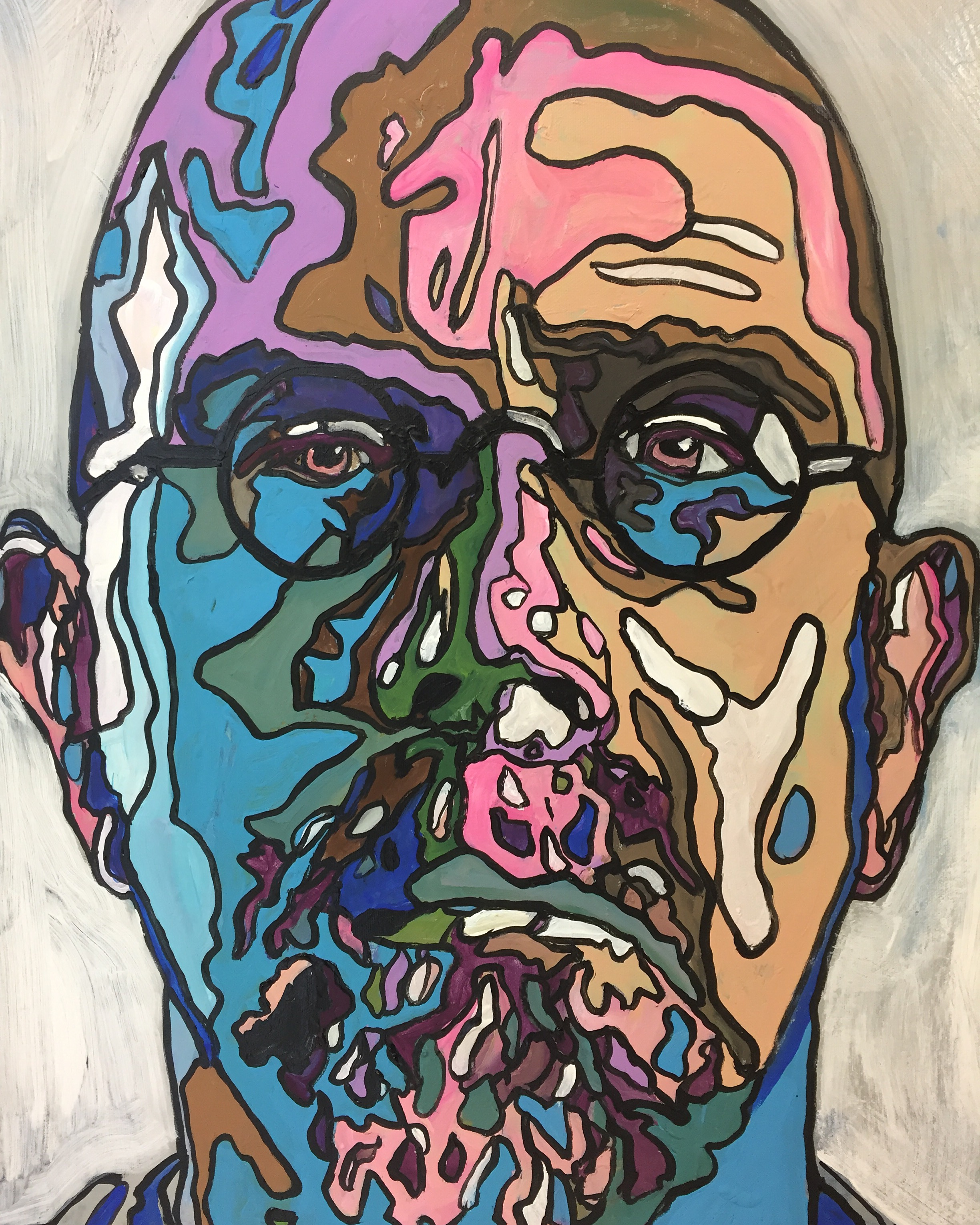 Chuck Close by james Ruddle