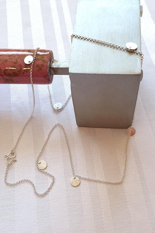 Glücksbringer-Halskette Silber mit Anhängern