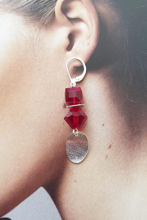 Flotte stylische Ohrringe Silber mit Swarovski-Perlen