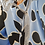 Thumbnail: Stilvolle kurze Halskette Silber mit 3 Kettenreihen, als Set mit Ohrringen erhäl
