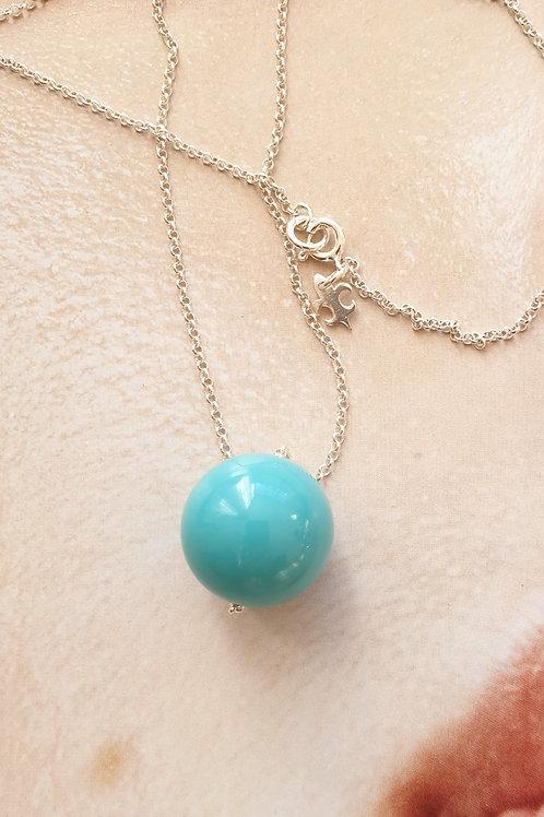 Feine lange Halskette mit Swarovski-Perle