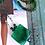 Thumbnail: Zeitlos-feminine Halskette Seidenschnur mit grüner Glasperle