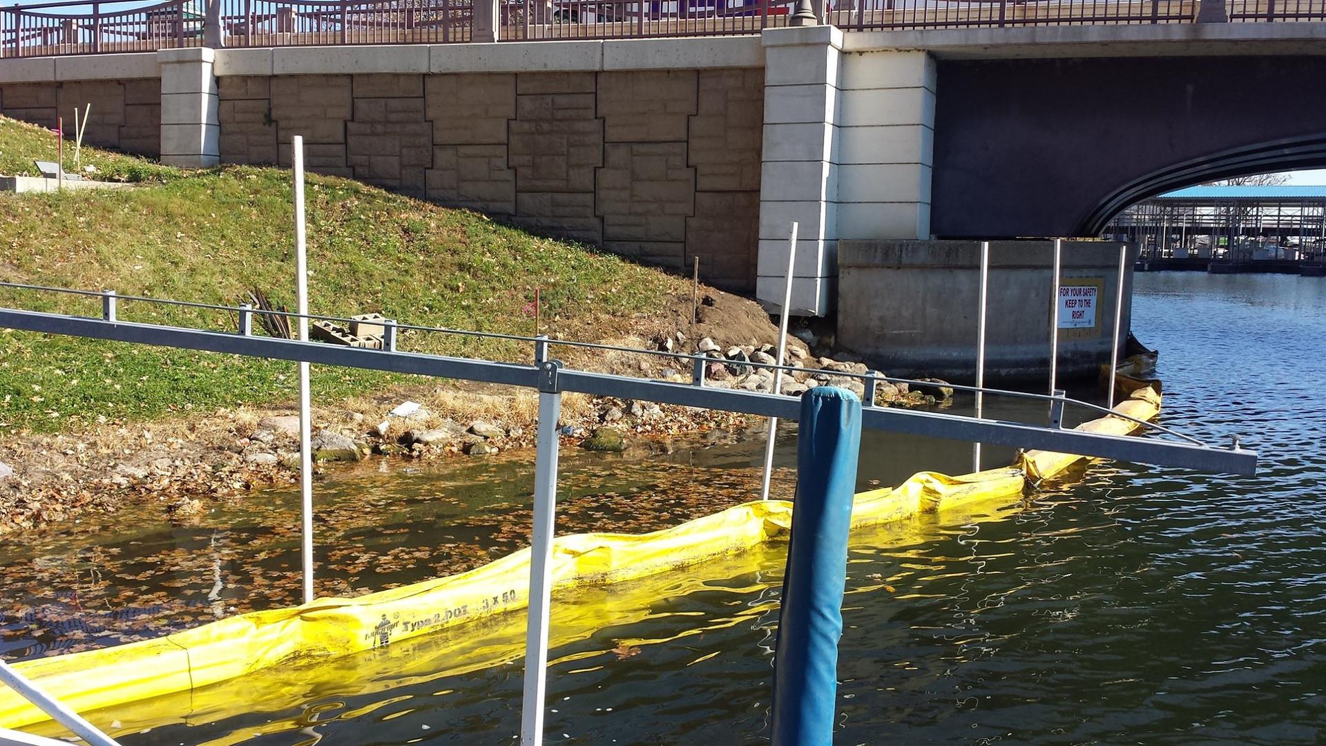 Floating Silt Fence Okaboji Area