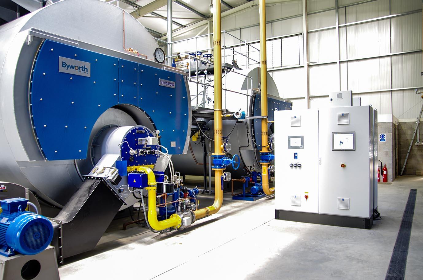 Multiple-steam-boiler-package