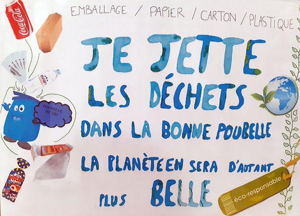Affiche realisee par le s Éco-délégués