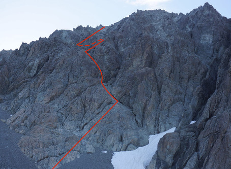New route on Cow Peak, Arthur's Pass