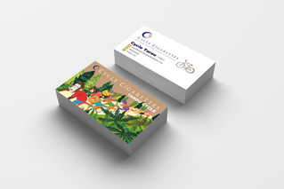 【お仕事】CYCLE CIGARETTES 様/ロゴマークとイラスト名刺の制作