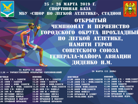 Открытый Чемпионат и первенство г.о.Прохладный по легкой  атлетике