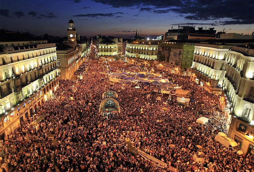 Los Indignados, Puerta de Sol, Madrid, 1