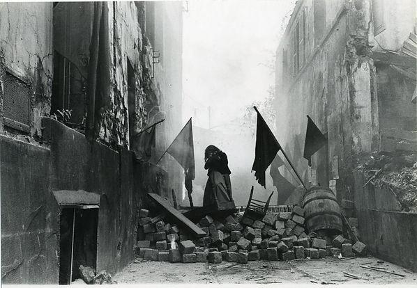 Barricada en Montmartre_París_durante la