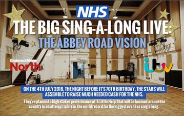 The big NHS sing a long, Endemol Shine North, ITV1