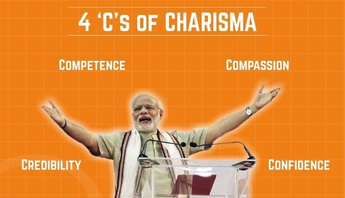 The 4 'C's of Charisma effectively used by Shri Narendra Modi in his day to day work.