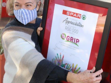 GRIP receives donation of R50 000 from SPAR Lowveld
