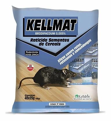 Kellmat - Raticida em Semestes e Cereais - 1 Kg - Kelldrin