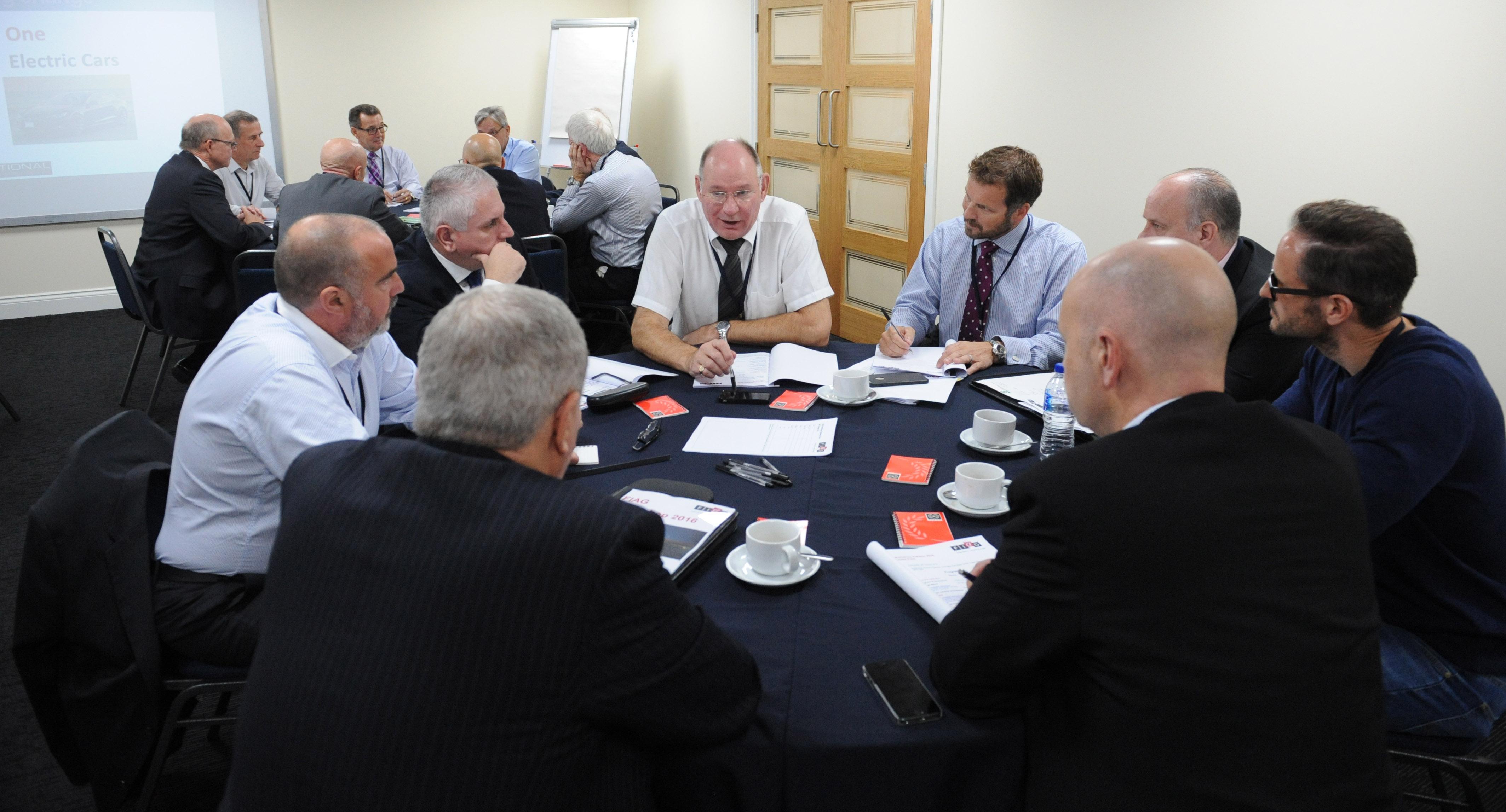 Challenge - Delegates in discussion at FIAG's auutumn 2016 workshop