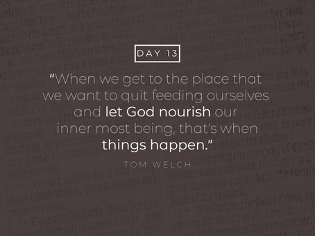 Day 13- A Testimony of Healing
