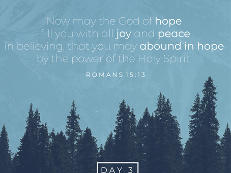 Day 3- Believing for Joy & Peace