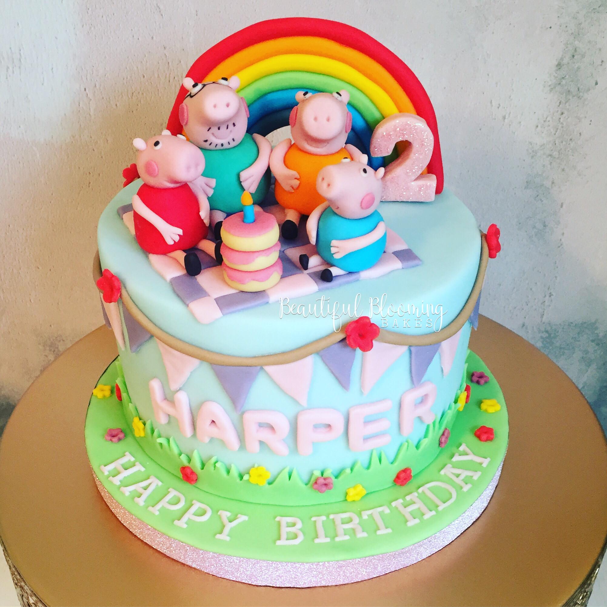 Peppa Pig Birthday Cake.6 Inch Peppa Pig Birthday Cake
