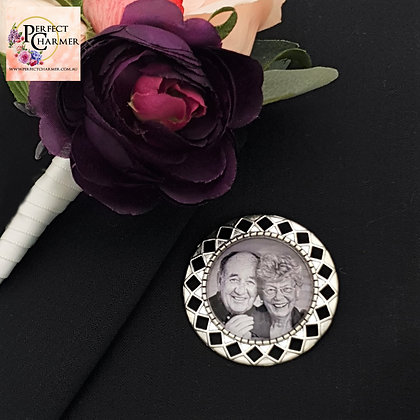 Silver with Brooch Pin