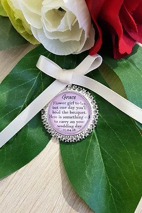 Flower Girl - Silver & Rhinestone
