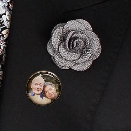 Gunmetal Grey Smooth with Brooch Pin