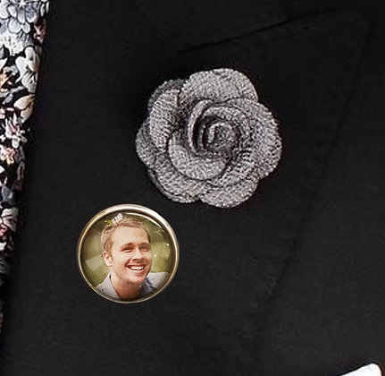 Silver Smooth with Brooch Pin