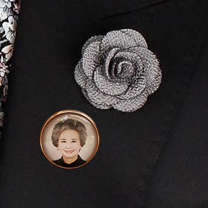Rose Gold Smooth with Brooch Pin