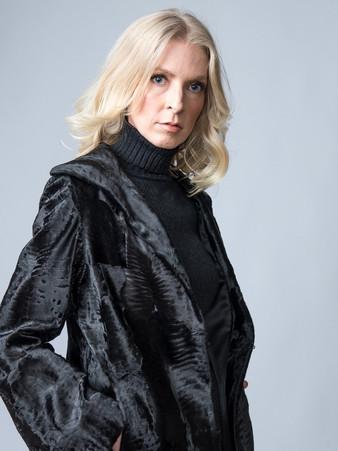 Dolce & Gabbana Black Karakul Lamb Jacket Size M/L $3,500
