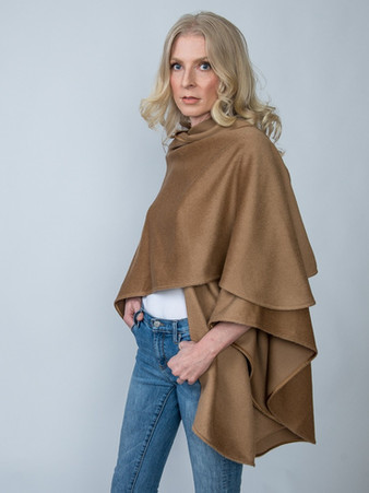 Baby Alpaca Cape - $650 Available in Camel, Winter White & Black