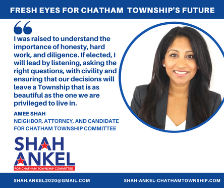 Amee Shah: Why I'm running for Chatham Township Committee
