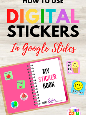 How To Use Digital Sticker Books and Stickers In The Classroom