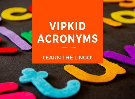 Acronyms for VIPKid Teachers